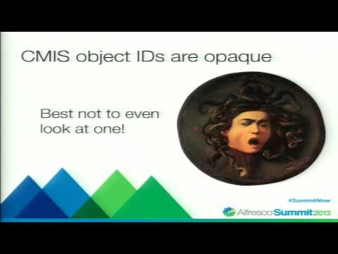 Alfresco Summit 2013: Getting Started with CMIS