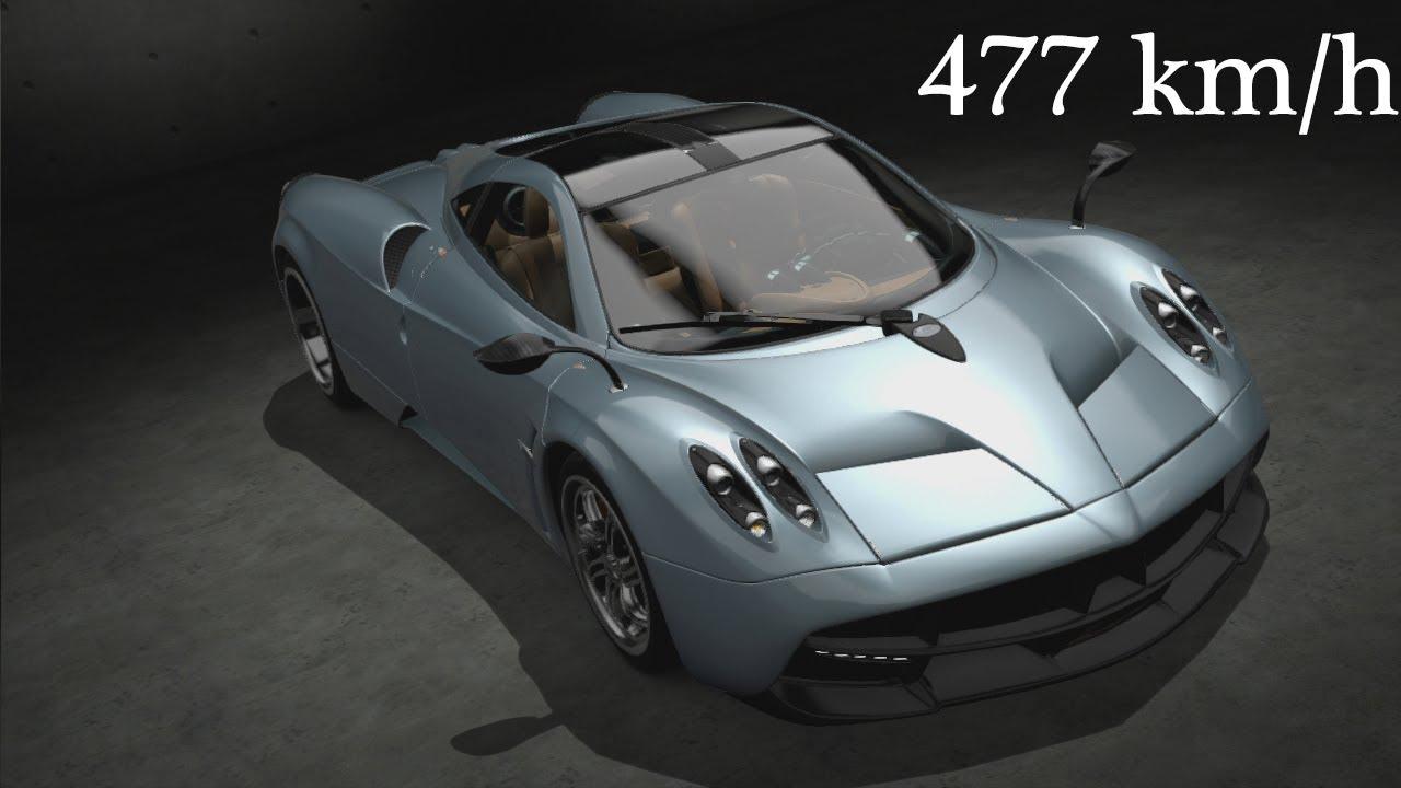 Gran Turismo 6 Pagani Huayra '2013 - 477 km/h Top Speed - YouTube