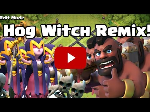 Hog Witch REMIX!   Epic Clash of Clans Beats   Sound Effects Only!   Clash of Clans Remix #2