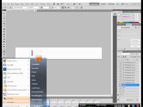 Tạo chữ chuyển động trong photoshop CS5