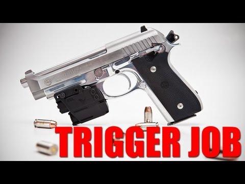 Taurus PT100 / PT92 Trigger Job And Beretta D Spring Install - Beretta 92FS 96FS