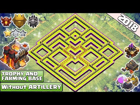 NEW TH11 Base ! Without Eagle Artillery 2018  Best Town Hall 10.5 Base   Anti 2 Star - Clash Of Clan