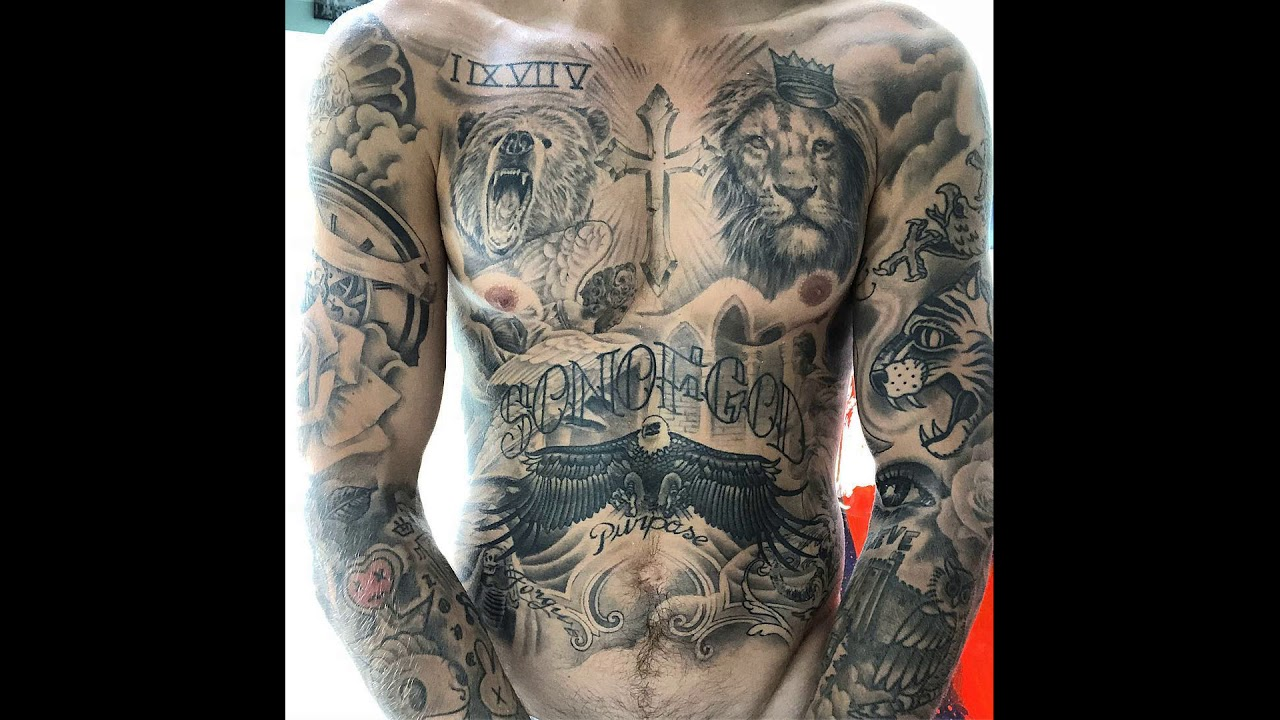 ad343bd45 Justin Bieber showing all his tattoos & talking about why he did them on  Instagram - April 4 2018
