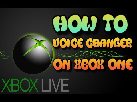 HOW TO MAKE A VOICE CHANGER ON XBOX ONE LIVE IN GAME CHAT (FREE)