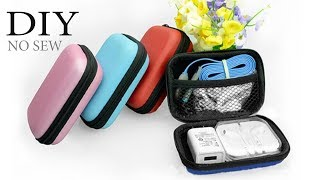 DIY  DIGITAL STORAGE ZIPPER // Mobile Phone Data Cable Charger Organizer