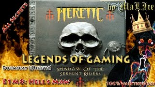 Heretic (Doomsday) 100% walkthrough - E1M8: Hell