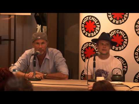 Red Hot Chili Peppers 2013 Chad Smith Press Conference Story about Will Ferrell