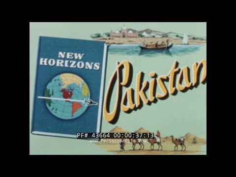 PAN AM AIRLINES  VISIT TO KARACHI & PAKISTAN 1960s TRAVEL FILM  43664