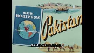 PAN AM AIRLINES  VISIT TO KARACHI & PAKISTAN 1960s TRAVEL FILM  43664