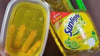 Thử Làm Slime Không Keo Với Nước Rửa Bát Và Bột Ngọt