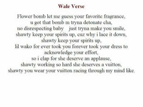 Lotus Flower Bomb Wale Lyrics Youtube