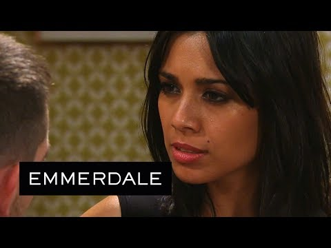 Emmerdale - Priya Proves Pete Wrong By Kissing Him!