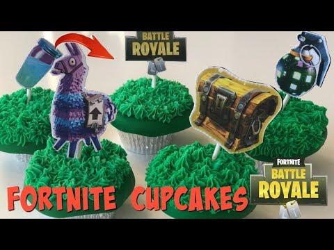 Fortnite Battle Royale Cupcakes Loot Llama, Slurp Juice, Boogie Bomb, Secret Chest