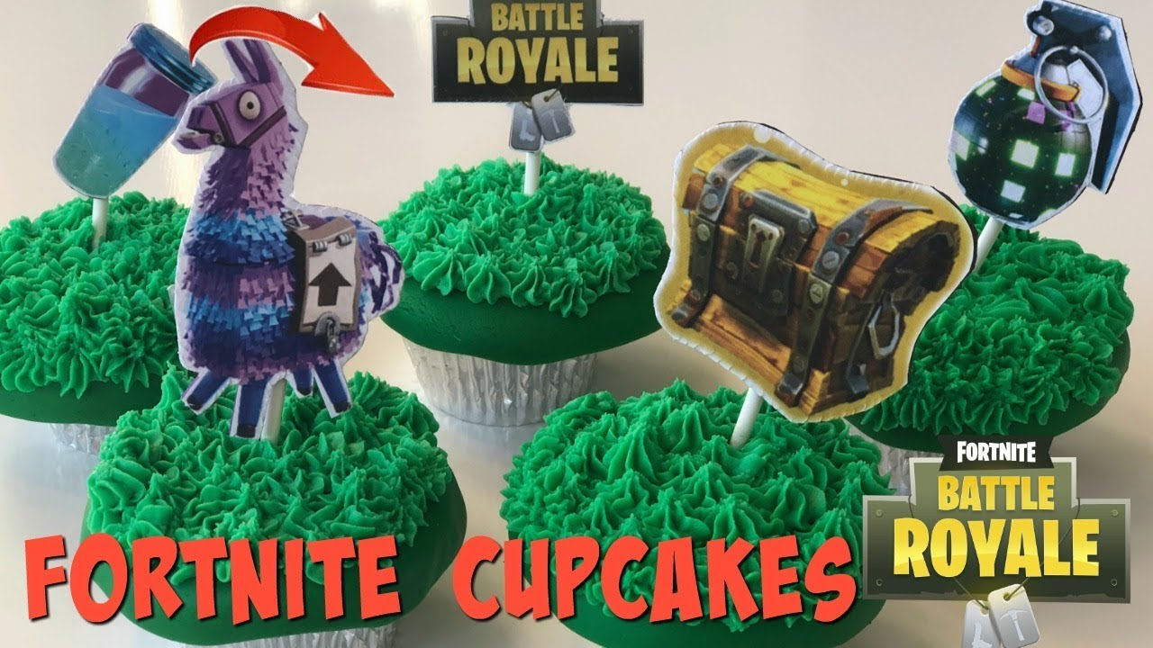 Fortnite Battle Royale Cupcakes Loot Llama Slurp Juice Boogie Bomb