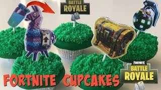 Fortnite Battle Royale Cupcakes Loot Llama, Slurp Juice, Boogie Bomb, Secret Chest