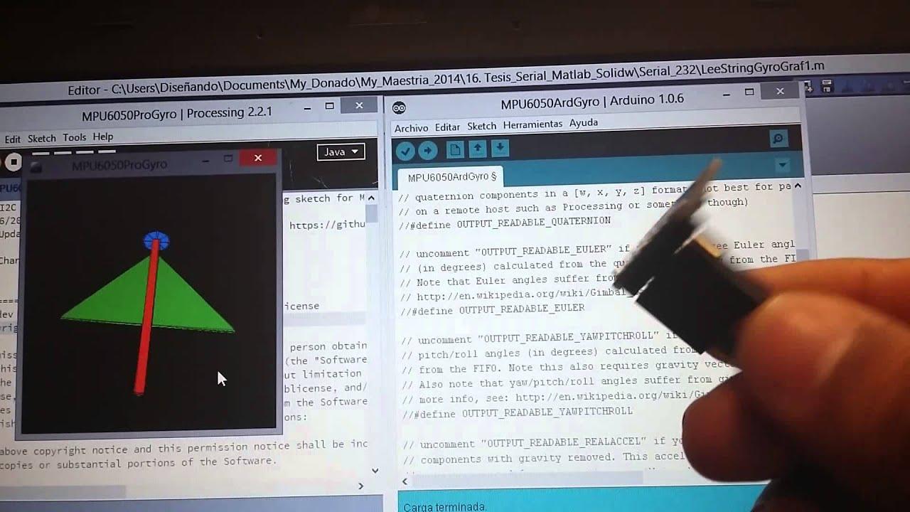 Processing MPU6050 Arduino by Angel Donado Arenas