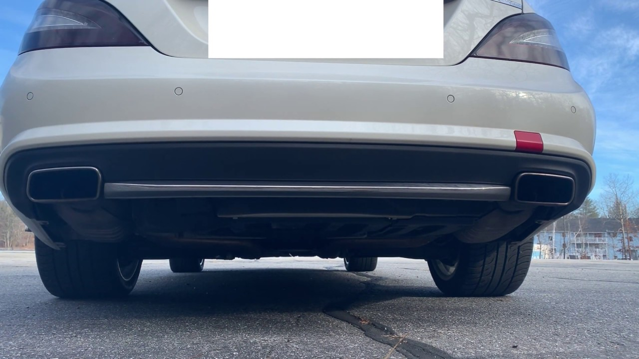 Mercedes CLS550 Catless DownPipes and Burble Tune