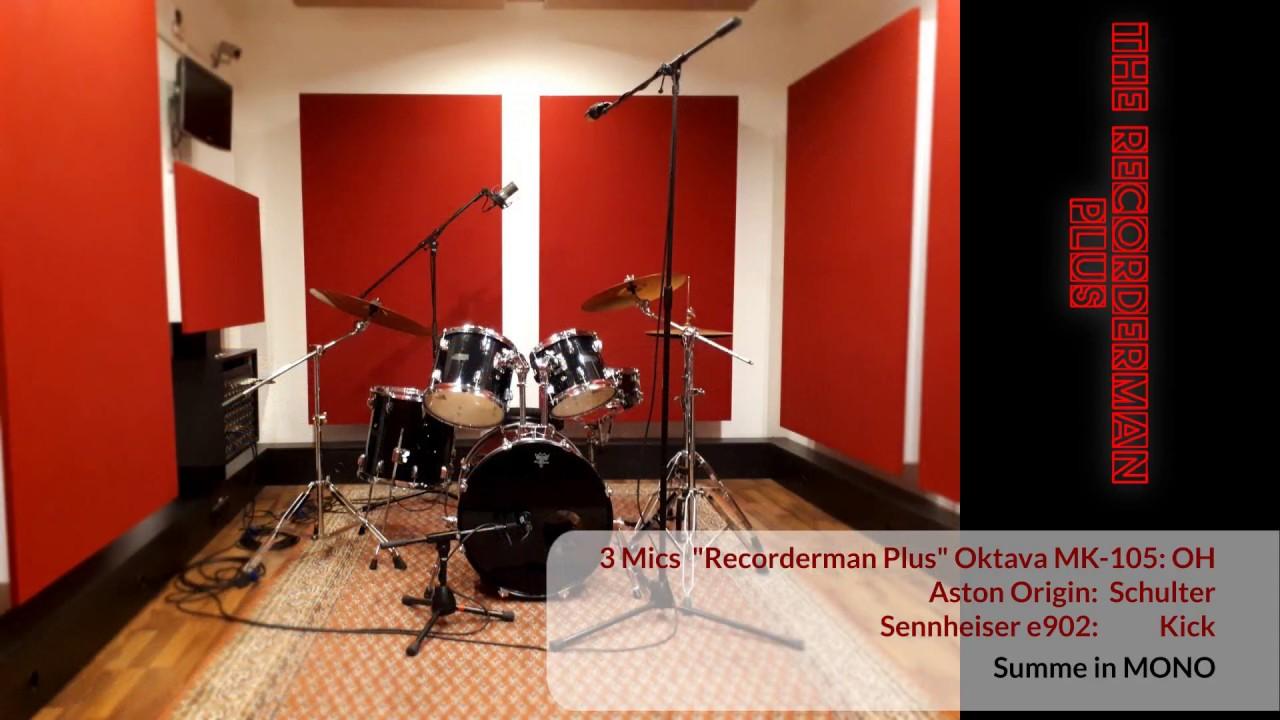 minimal drum miking 3 kan le recorderman kondensator mic kick youtube. Black Bedroom Furniture Sets. Home Design Ideas