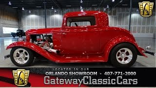 1932 Ford 3 Window Coupe Gateway Classic Cars Orlando #205