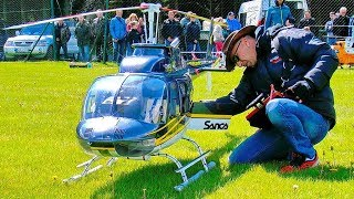 WOW !! HUGE XXXL RC SCALE 1:3 MODEL JETRANGER BELL-206 WITH TURBINE ENGINE FLIGHT BY FRANCIS PADUWAT
