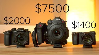 C200 vs GH5 vs A6500 - Low Light - Autofocus - & 4K + 120 FPS Detail Comparison