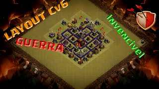 Layout CV6 Guerra/ Layout TH6 War - Clash of clans