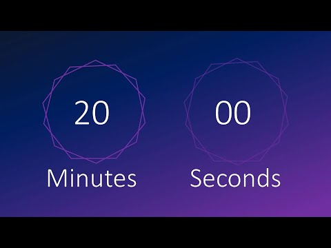 🎶 20 Minute Timer With Music