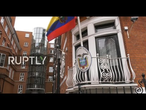 LIVE outside London's Ecuadorian embassy as Swedish prosecut