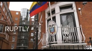 LIVE outside London's Ecuadorian embassy as Swedish prosecutors drop case against Assange