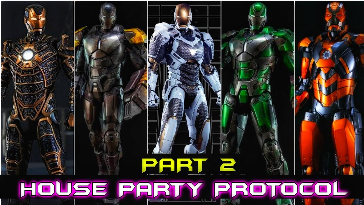Ironman Mark 25 to Mark 41 Explain (House party Protocol part 2)in Hindi SUPERBATTLE