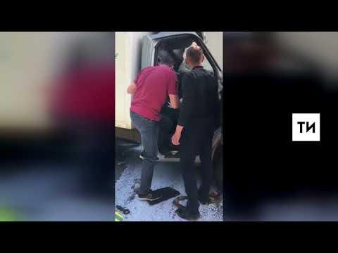 Первые минуты смертельного ДТП в Зеленодольском районе республики попали на камеру видеорегистратора
