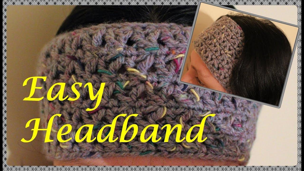 Quick and Easy Crochet Headband - YouTube 3562e617843