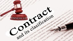 Business Law: Contract and its classification