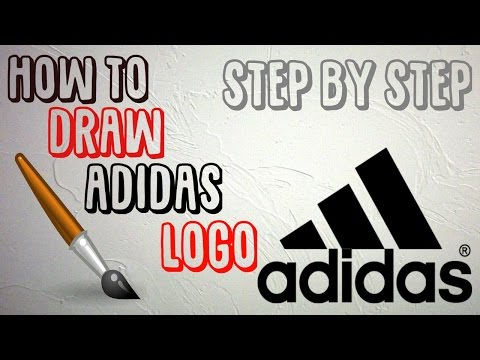 STEP BY STEP- HOW TO DRAW ADIDAS LOGO (FOR BEGINNERS)