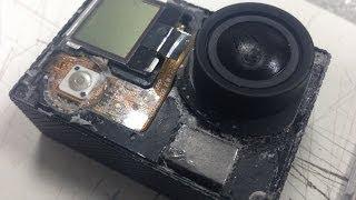 GoPro разборка экшен камеры Hero3. Disassembling GoPro Hero3. part 1.