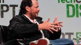 Marc Benioff on the Invisible Hand of Steve Jobs | Disrupt SF 2013