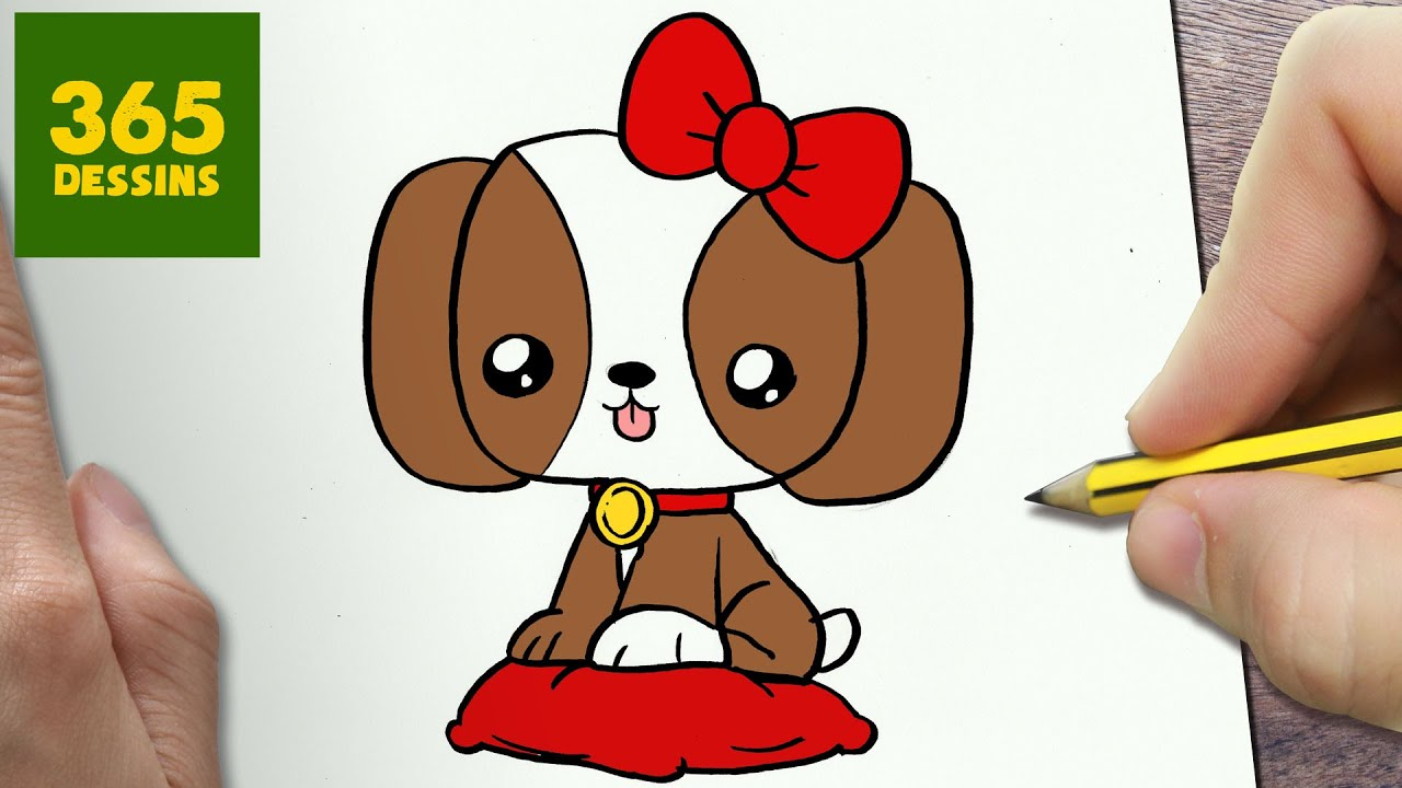 Super COMMENT DESSINER CHIOT KAWAII ÉTAPE PAR ÉTAPE – Dessins kawaii  WT61