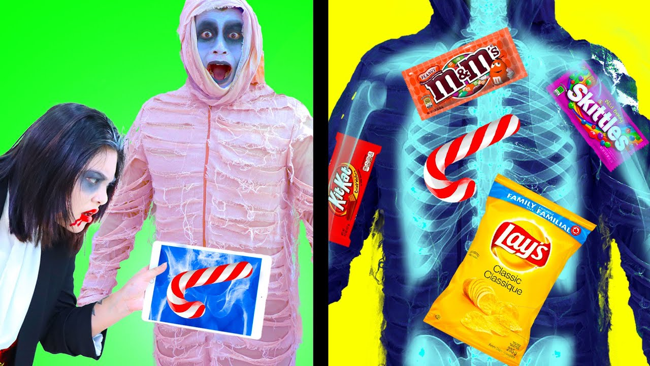 Download 8 CRAZY ZOMBIE WAYS TO SNEAK SNACKS AND FOOD INTO THE MOVIES   FUNNY TIPS AND TRICKS BY CRAFTY HACKS