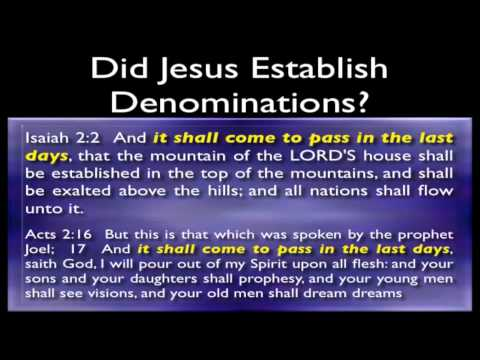 Can A Person Be Saved In A Denomination?