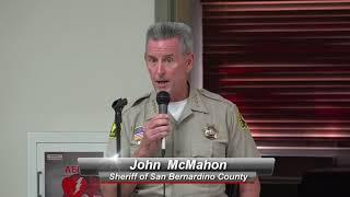 Lucerne Valley/Johnson Valley Mac/ July 19, 2018/ Sheriff John McMahon