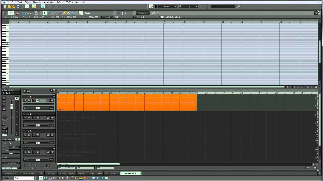how to use midi editor