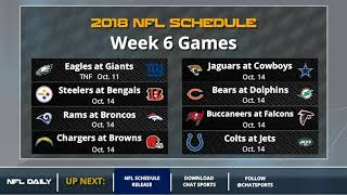 2018 NFL Schedule Release Including All TNF, SNF, And MNF Matchups