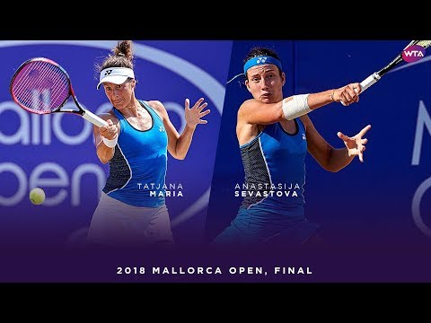 Tatjana Maria vs. Anastasija Sevastova | 2018 Mallorca Open Final | WTA Highlights