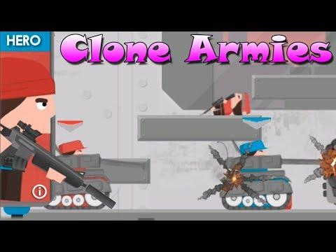Прокачали Рембо АРМИЯ КЛОНОВ Clone Armies 2d games \ Sandbox