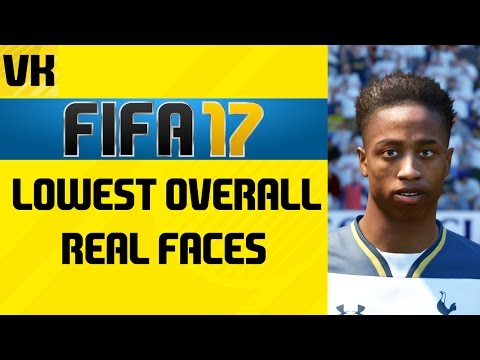 FIFA 17 Lowest Overall Players With Real Faces