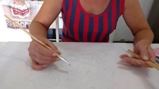 Curso pintura – Aula 2 por Rosana Duran