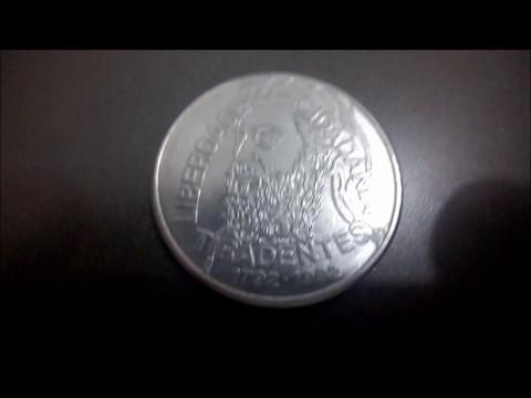 moeda rara comemorativa do tiradentes