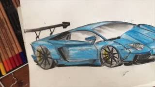 HOW TO DRAW LIBERTY WALK LAMBORGHINI AVENTADOR!!!  time lapse(in this video, I'll show you guys how to draw a lamborghini aventador with a liberty walk body kit. I drew the drawing as a free-hand sketch, so this is for ..., 2016-07-08T16:51:08.000Z)