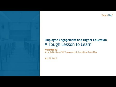 Webinar | Employee Engagement in Higher Education: Tough Lessons to Learn