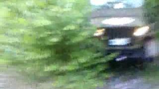 Willys jeep in terrain